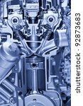 Automotive engine details - stock photo