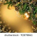 a particular of a christmas...   Shutterstock . vector #92878861
