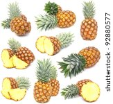 pineapple collection | Shutterstock . vector #92880577