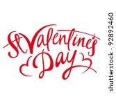 valentines day   inscription... | Shutterstock .eps vector #92892460