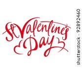 valentines day   inscription... | Shutterstock .eps vector #92892460