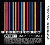 Grunge Colorful Barcode...