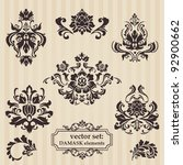 set of ornamental damask... | Shutterstock .eps vector #92900662