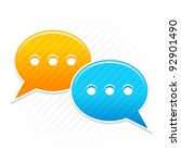 satin smooth sticker chat room... | Shutterstock .eps vector #92901490