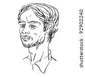 attractive man in shirt... | Shutterstock . vector #92902240