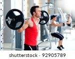 group with dumbbell weight... | Shutterstock . vector #92905789