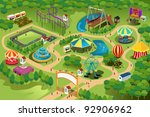 a vector illustration of a map... | Shutterstock .eps vector #92906962