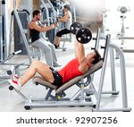 group with weight training... | Shutterstock . vector #92907256