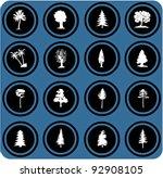 vector blue  signs. vector...   Shutterstock .eps vector #92908105