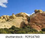 Colourful rocks in Red Rock Canyon State Park, Nevada, USA - stock photo