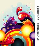 Abstract Rainbow Color Vector...