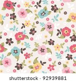 spring floral seamless pattern | Shutterstock .eps vector #92939881