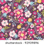 spring floral seamless pattern... | Shutterstock .eps vector #92939896