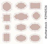 set of vintage frames | Shutterstock .eps vector #92940526