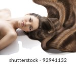 beauty close up portrait of... | Shutterstock . vector #92941132