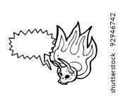 halloween devil skull cartoon | Shutterstock .eps vector #92946742