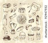 Vintage Kitchen Sketch