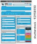 web design elements set blue.... | Shutterstock .eps vector #92958550