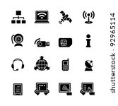 computer icon set | Shutterstock .eps vector #92965114
