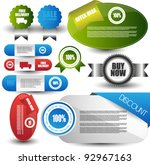 web elements collection | Shutterstock .eps vector #92967163