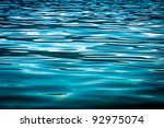 Beautiful blue water surface as a background texture - stock photo