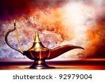 antique artisanal aladdin... | Shutterstock . vector #92979004