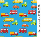 transportation seamless pattern | Shutterstock .eps vector #92980528