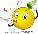 illustration of a party smiley | Shutterstock .eps vector #93018526