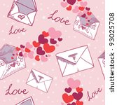 love letter valentine seamless... | Shutterstock .eps vector #93025708