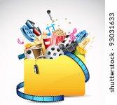 illustration of folder full of... | Shutterstock .eps vector #93031633