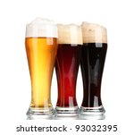 three glasses with different... | Shutterstock . vector #93032395