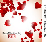 valentine background  eps10 | Shutterstock .eps vector #93050104
