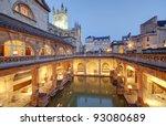 old roman baths at bath ... | Shutterstock . vector #93080689