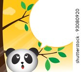 panda speaking with a speech... | Shutterstock . vector #93080920