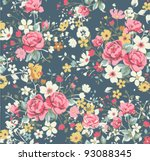 wallpaper vintage rose pattern... | Shutterstock .eps vector #93088345