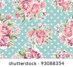 Pink Vintage Rose Pattern On...