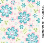 Seamless Tiny Floral Pattern On ...