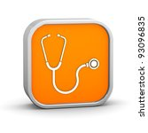 stethoscope sign on a white... | Shutterstock . vector #93096835