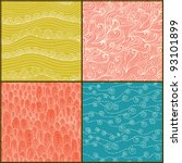set of four seamless abstract...