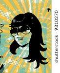 retro girl | Shutterstock .eps vector #9310270
