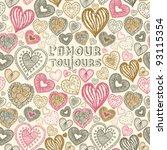 seamless wallpaper with hand... | Shutterstock .eps vector #93115354