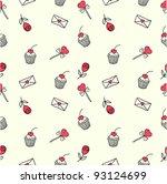 cute seamless doodle pattern   Shutterstock .eps vector #93124699