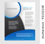 business brochure design | Shutterstock .eps vector #93132148