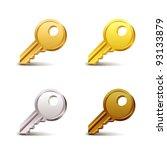 key icons   Shutterstock .eps vector #93133879