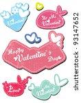 valentine s day card | Shutterstock .eps vector #93147652