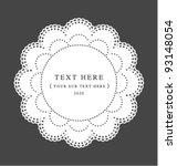 elegant crochet lace classic... | Shutterstock .eps vector #93148054