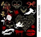 valentine s day design elements. | Shutterstock . vector #9315820