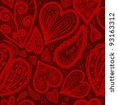 love valentine pattern | Shutterstock .eps vector #93163312