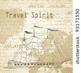 Travel Background With Vintage...
