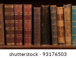 Antique Books On Bookshelf